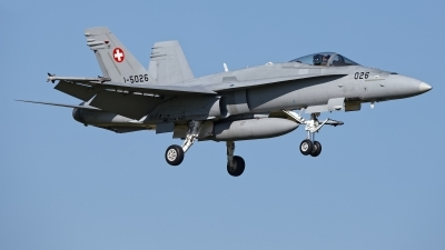 Photo ID 225278 by Rainer Mueller. Switzerland Air Force McDonnell Douglas F A 18C Hornet, J 5026