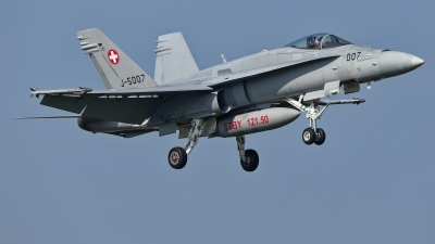 Photo ID 225479 by Rainer Mueller. Switzerland Air Force McDonnell Douglas F A 18C Hornet, J 5007