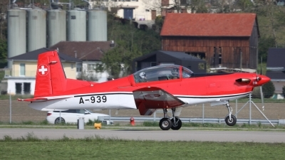 Photo ID 225677 by Sybille Petersen. Switzerland Air Force Pilatus NCPC 7 Turbo Trainer, A 939