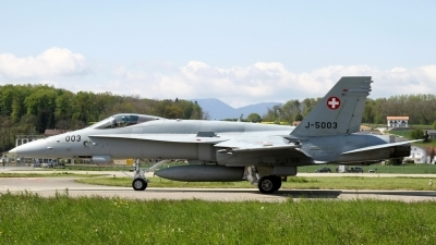 Photo ID 225678 by Sybille Petersen. Switzerland Air Force McDonnell Douglas F A 18C Hornet, J 5003