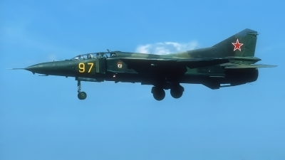 Photo ID 225787 by Rainer Mueller. Russia Air Force Mikoyan Gurevich MiG 23UB, 97 YELLOW