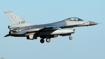 Photo ID 225870 by Carl Brent. Netherlands Air Force General Dynamics F 16AM Fighting Falcon, J 201