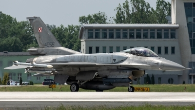 Photo ID 226028 by Thomas Ziegler - Aviation-Media. Poland Air Force General Dynamics F 16C Fighting Falcon, 4055