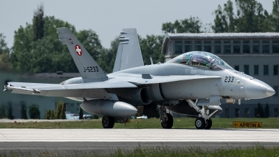 Photo ID 226038 by Thomas Ziegler - Aviation-Media. Switzerland Air Force McDonnell Douglas F A 18D Hornet, J 5233