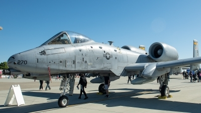 Photo ID 226393 by W.A.Kazior. USA Air Force Fairchild A 10A Thunderbolt II, 80 0270