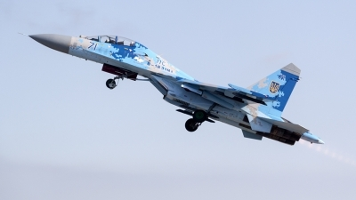 Photo ID 226546 by Ray Biagio Pace. Ukraine Air Force Sukhoi Su 27UB1M, B 1831M1