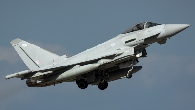 Photo ID 226584 by Thomas Ziegler - Aviation-Media. UK Air Force Eurofighter Typhoon FGR4, ZK308