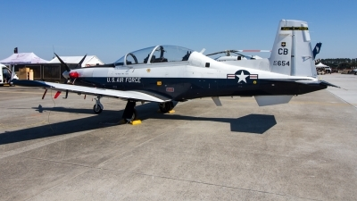 Photo ID 227547 by Alfred Koning. USA Air Force Raytheon T 6A Texan II, 02 3654