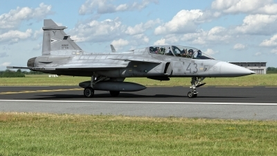 Photo ID 227963 by Rainer Mueller. Hungary Air Force Saab JAS 39 EBS HU D Gripen, 43