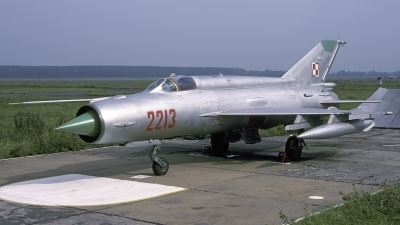 Photo ID 227639 by Chris Lofting. Poland Air Force Mikoyan Gurevich MiG 21R, 2213