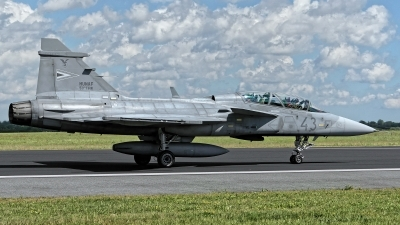 Photo ID 228132 by Rainer Mueller. Hungary Air Force Saab JAS 39 EBS HU D Gripen, 43