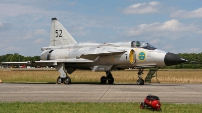 Photo ID 228118 by Mario Boeren. Private Swedish Air Force Historic Flight Saab AJS37 Viggen, SE DXN