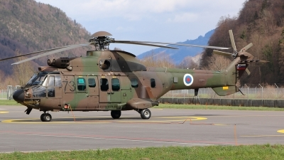 Photo ID 228796 by Ludwig Isch. Slovenia Air Force Aerospatiale AS 532AL Cougar, H3 73