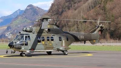 Photo ID 228797 by Ludwig Isch. Switzerland Air Force Aerospatiale AS 332M1 Super Puma, T 316