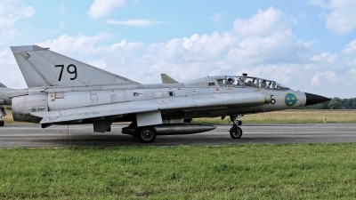 Photo ID 228869 by Rainer Mueller. Private Swedish Air Force Historic Flight Saab Sk35C Draken, SE DXP