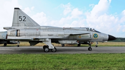 Photo ID 229053 by Rainer Mueller. Private Swedish Air Force Historic Flight Saab AJS37 Viggen, SE DXN