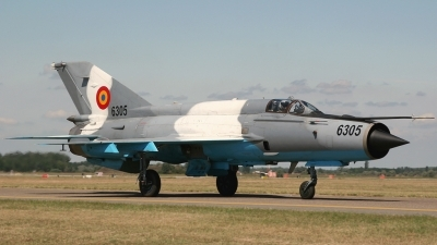 Photo ID 26089 by Kamila Tureckova. Romania Air Force Mikoyan Gurevich MiG 21MF 75 Lancer C, 6305