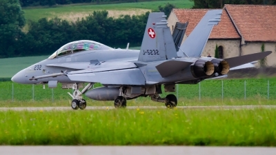 Photo ID 229455 by Agata Maria Weksej. Switzerland Air Force McDonnell Douglas F A 18D Hornet, J 5232