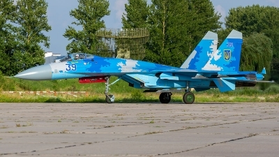 Photo ID 229627 by Vladimir Vorobyov. Ukraine Air Force Sukhoi Su 27S, 39 BLUE