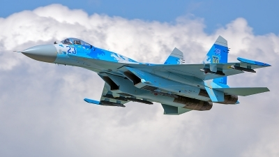 Photo ID 229832 by Vladimir Vorobyov. Ukraine Air Force Sukhoi Su 27P,