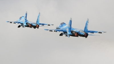 Photo ID 230147 by Barry Swann. Ukraine Air Force Sukhoi Su 27S, 39 BLUE
