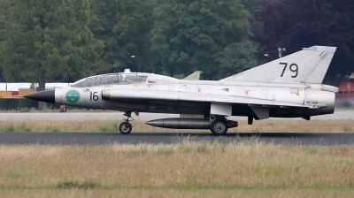 Photo ID 230384 by Walter Van Bel. Private Swedish Air Force Historic Flight Saab Sk35C Draken, SE DXP