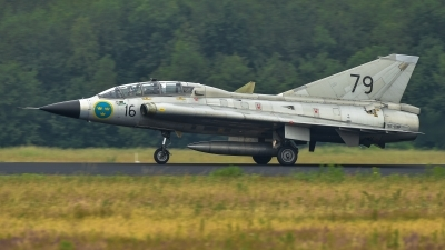 Photo ID 230497 by Sascha Gaida. Private Swedish Air Force Historic Flight Saab Sk35C Draken, SE DXP