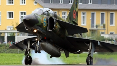 Photo ID 230898 by Isch Eduard. Private Swedish Air Force Historic Flight Saab Sk37E Viggen, SE DXO