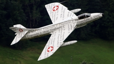 Photo ID 230900 by Isch Eduard. Private Hunterverein Obersimmental Hawker Hunter F58, HB RVS