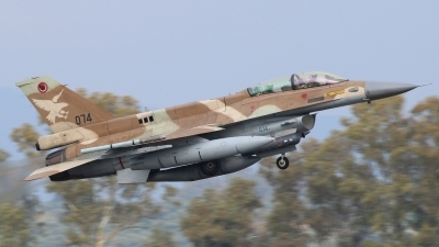 Photo ID 231045 by Stamatis Alipasalis. Israel Air Force General Dynamics KF 16D Fighting Falcon, 074