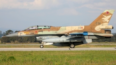 Photo ID 231287 by Stamatis Alipasalis. Israel Air Force General Dynamics KF 16D Fighting Falcon, 074