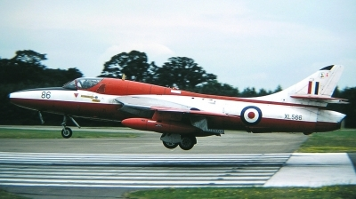 Photo ID 26311 by Arie van Groen. UK Air Force Hawker Hunter T7, XL566