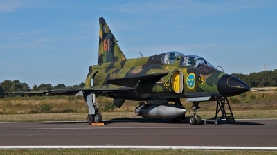 Photo ID 231441 by huelsmann heinz. Private Swedish Air Force Historic Flight Saab Sk37E Viggen, SE DXO