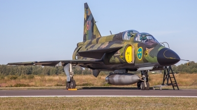 Photo ID 231510 by M. Hauswald. Private Swedish Air Force Historic Flight Saab Sk37E Viggen, SE DXO