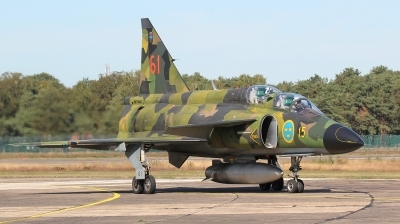 Photo ID 231463 by kristof stuer. Private Swedish Air Force Historic Flight Saab Sk37E Viggen, SE DXO