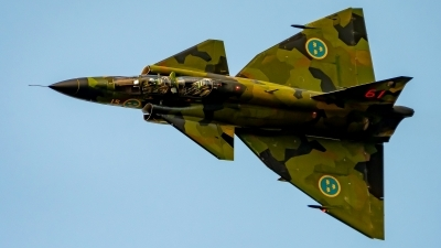 Photo ID 231634 by Martin Thoeni - Powerplanes. Private Swedish Air Force Historic Flight Saab Sk37E Viggen, SE DXO