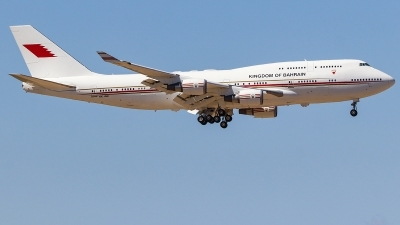 Photo ID 231636 by Ruben Galindo. Bahrain Royal Flight Boeing 747 4P8, A9C HMK