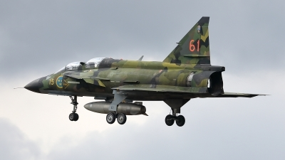Photo ID 232127 by Walter Van Bel. Private Swedish Air Force Historic Flight Saab Sk37E Viggen, SE DXO