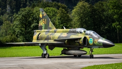 Photo ID 232416 by Thomas Ziegler - Aviation-Media. Private Swedish Air Force Historic Flight Saab Sk37E Viggen, SE DXO