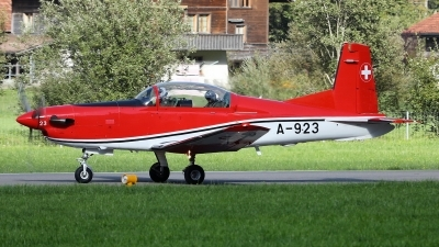 Photo ID 232796 by Sybille Petersen. Switzerland Air Force Pilatus NCPC 7 Turbo Trainer, A 923