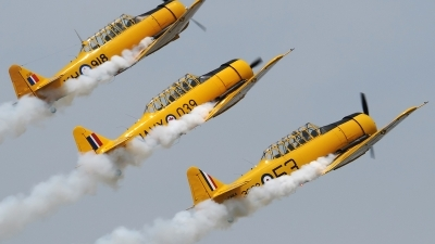 Photo ID 232762 by Aldo Bidini. Private Canadian Harvard Aerobatic Team North American Harvard II, C FMKA