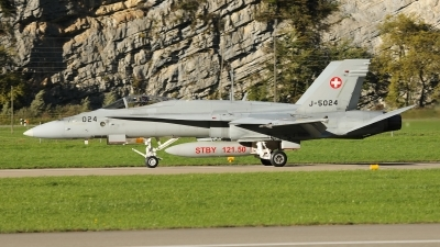 Photo ID 232830 by Sybille Petersen. Switzerland Air Force McDonnell Douglas F A 18C Hornet, J 5024