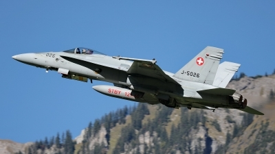 Photo ID 232876 by Sybille Petersen. Switzerland Air Force McDonnell Douglas F A 18C Hornet, J 5026