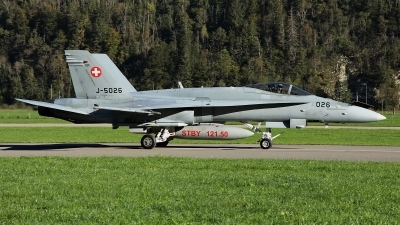 Photo ID 232903 by Sybille Petersen. Switzerland Air Force McDonnell Douglas F A 18C Hornet, J 5026