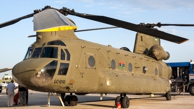 Photo ID 233084 by Ray Biagio Pace. Libya Air Force Boeing Vertol CH 47C Chinook, LC 010
