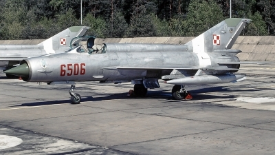 Photo ID 233115 by Aldo Bidini. Poland Air Force Mikoyan Gurevich MiG 21MF, 6506