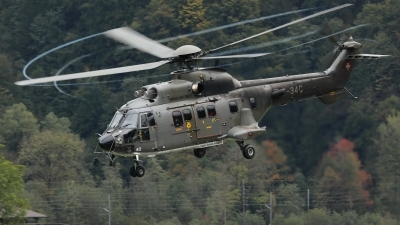 Photo ID 233256 by Sybille Petersen. Switzerland Air Force Aerospatiale AS 532UL Cougar, T 340