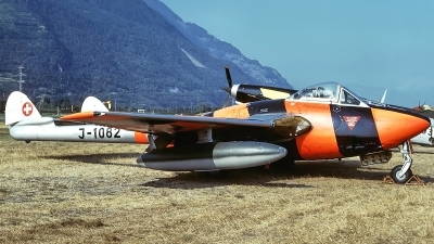 Photo ID 233325 by Aldo Bidini. Switzerland Air Force De Havilland DH 100 Vampire FB 6, J 1082