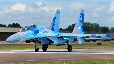 Photo ID 233495 by Frank Deutschland. Ukraine Air Force Sukhoi Su 27UB1M, B 1831M1