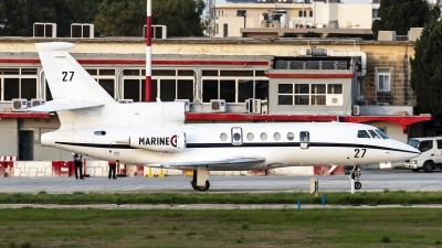 Photo ID 233572 by Redeemer Saliba. France Navy Dassault Falcon 50, 27